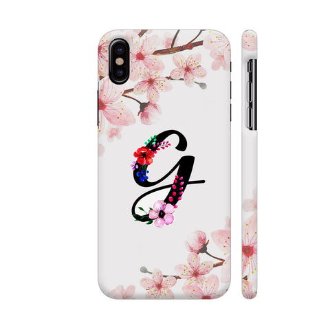 Letter G Watercolor iPhone X Cover | Artist: Kiran Maurya