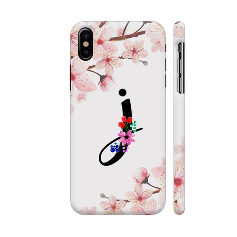 Letter I Watercolor iPhone X Cover | Artist: Kiran Maurya