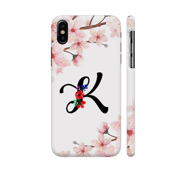 Letter K Watercolor iPhone X Cover | Artist: Kiran Maurya