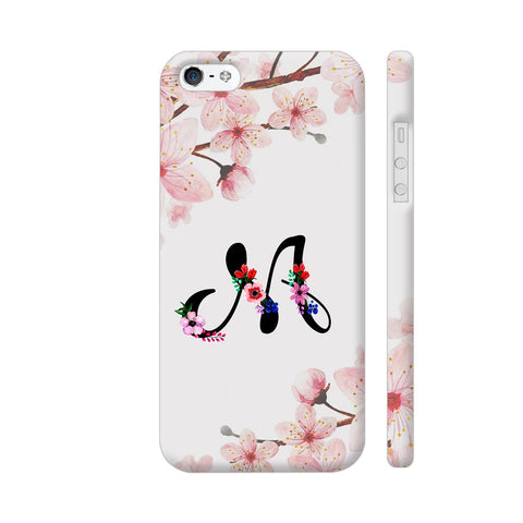 Letter M Watercolor iPhone SE Cover | Artist: Kiran Maurya
