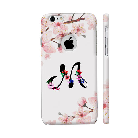Letter M Watercolor iPhone 6 / 6s Logo Cut Cover | Artist: Kiran Maurya