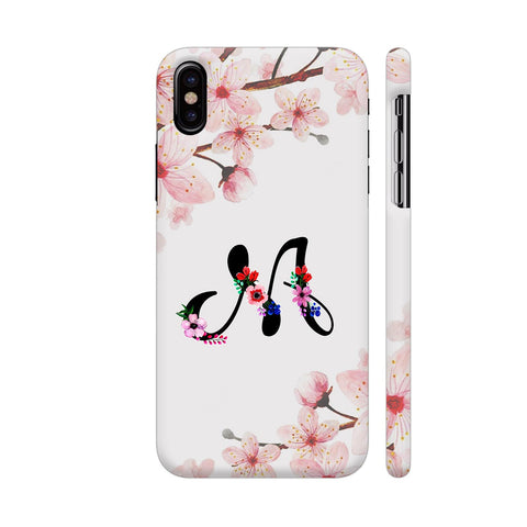 Letter M Watercolor iPhone X Cover | Artist: Kiran Maurya