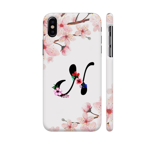 Letter N Watercolor iPhone X Cover | Artist: Kiran Maurya