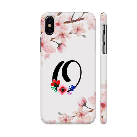 Letter O Watercolor iPhone X Cover | Artist: Kiran Maurya