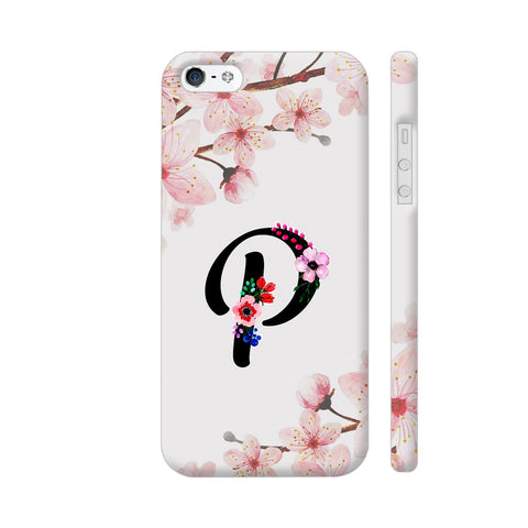 Letter P Watercolor iPhone SE Cover | Artist: Kiran Maurya