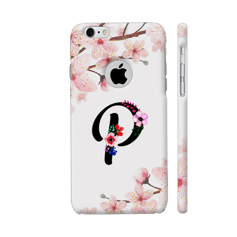 Letter P Watercolor iPhone 6 / 6s Logo Cut Cover | Artist: Kiran Maurya