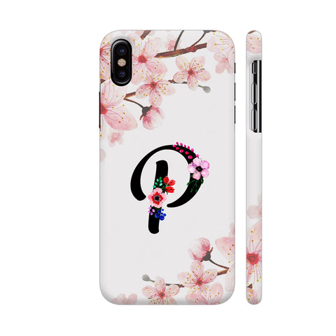 Letter P Watercolor iPhone X Cover | Artist: Kiran Maurya