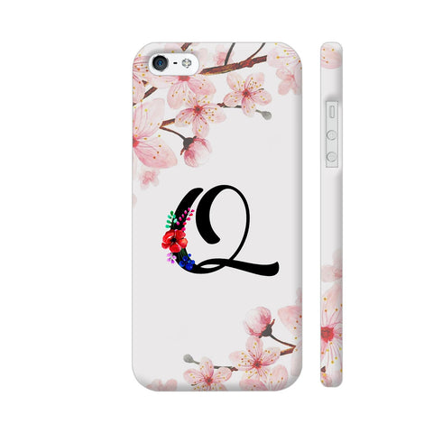 Letter Q Watercolor iPhone SE Cover | Artist: Kiran Maurya