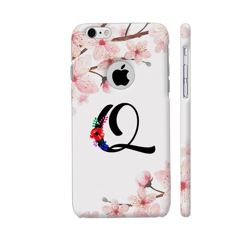 Letter Q Watercolor iPhone 6 / 6s Logo Cut Cover | Artist: Kiran Maurya