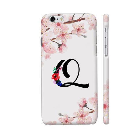 Letter Q Watercolor iPhone 6 / 6s Cover | Artist: Kiran Maurya
