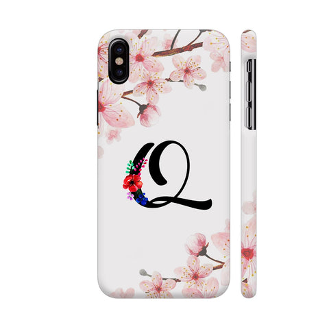 Letter Q Watercolor iPhone X Cover | Artist: Kiran Maurya
