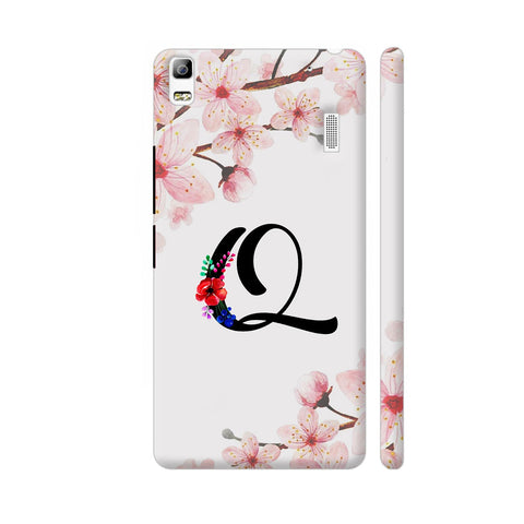Letter Q Watercolor Lenovo A7000 Cover | Artist: Kiran Maurya