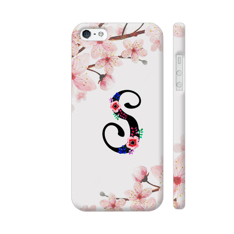 Letter S Watercolor iPhone SE Cover | Artist: Kiran Maurya