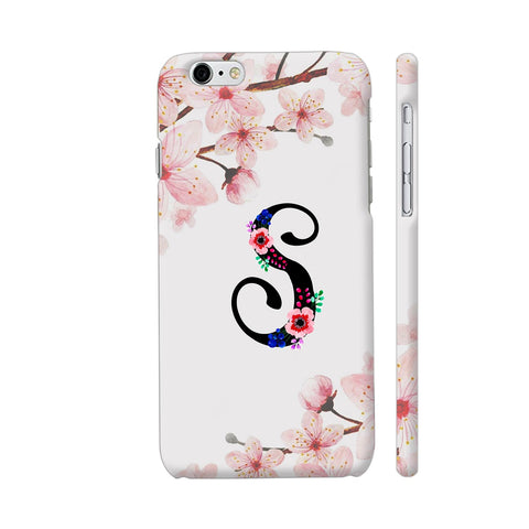 Letter S Watercolor iPhone 6 / 6s Cover | Artist: Kiran Maurya