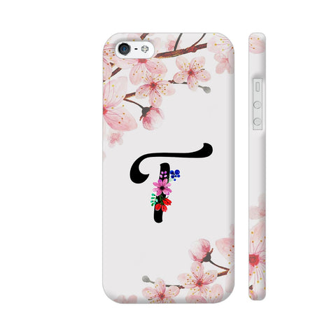 Letter T Watercolor iPhone SE Cover | Artist: Kiran Maurya