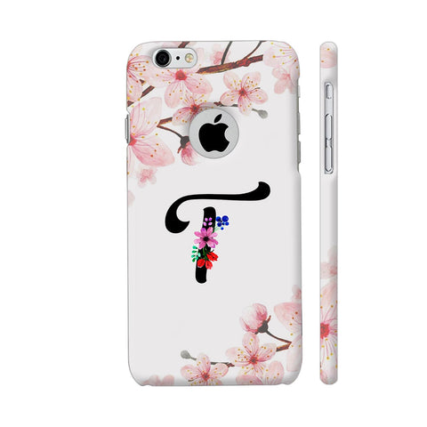 Letter T Watercolor iPhone 6 / 6s Logo Cut Cover | Artist: Kiran Maurya