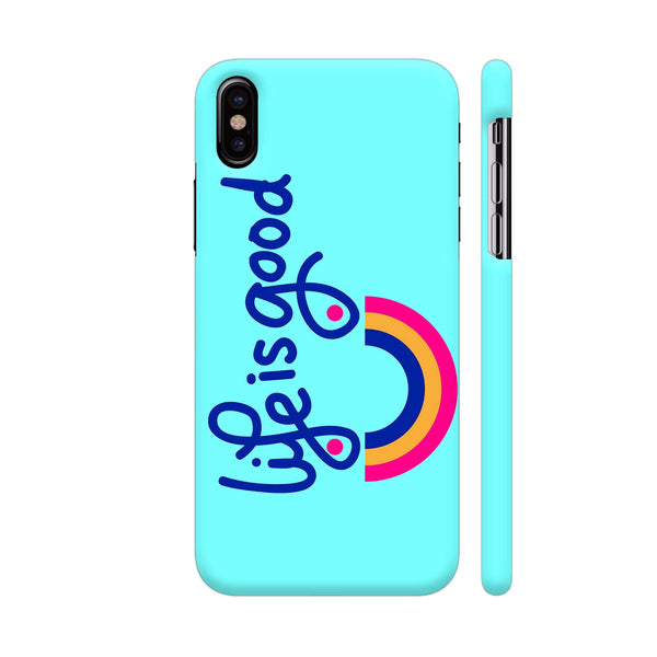 Life Is Good On Blue iPhone X Cover | Artist: Malls