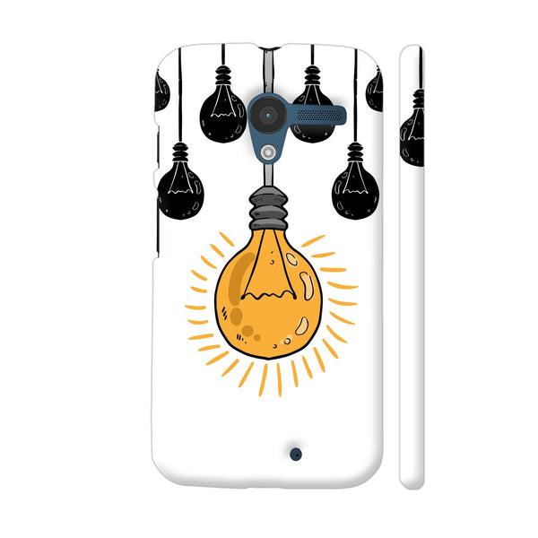 Light Bulb Yellow Moto X1 Cover | Artist: Abhinav