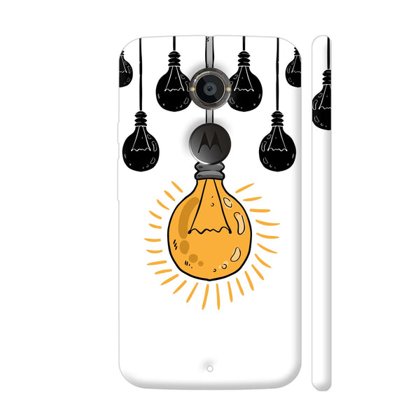 Light Bulb Yellow Moto X2 Cover | Artist: Abhinav