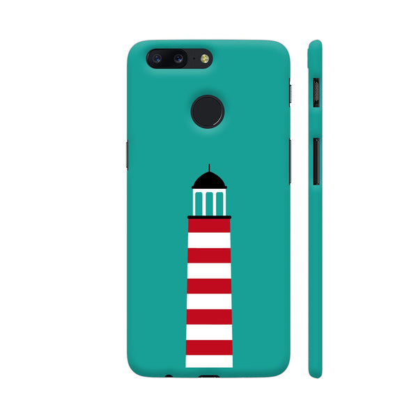 Lighthouse In Red And White OnePlus 5T Cover | Artist: Torben