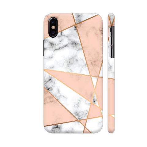 Lines On White Marble iPhone X Cover | Artist: Manju NK