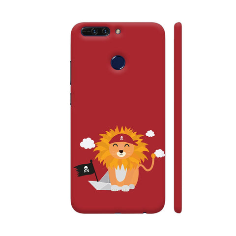Lion Pirate With Pirateboat Honor 8 Pro Cover | Artist: Torben