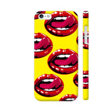 Lips Design On Yellow iPhone 5 / 5s Cover | Artist: Malls