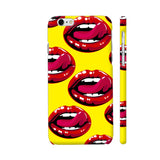 Lips Design On Yellow iPhone 6 Plus / 6s Plus Cover | Artist: Malls