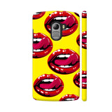 Lips Design On Yellow Lenovo K4 Note Cover | Artist: Malls