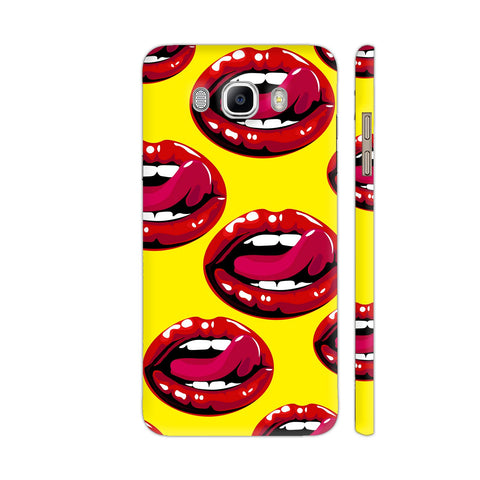 Lips Design On Yellow Samsung On8 Cover | Artist: Malls