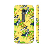 Little Birds On Yellow Moto G Turbo Cover | Artist: Sangeetha