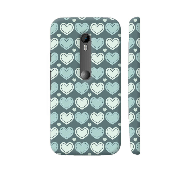 Love Hearts Pattern Moto G Turbo Cover | Artist: Designer Chennai