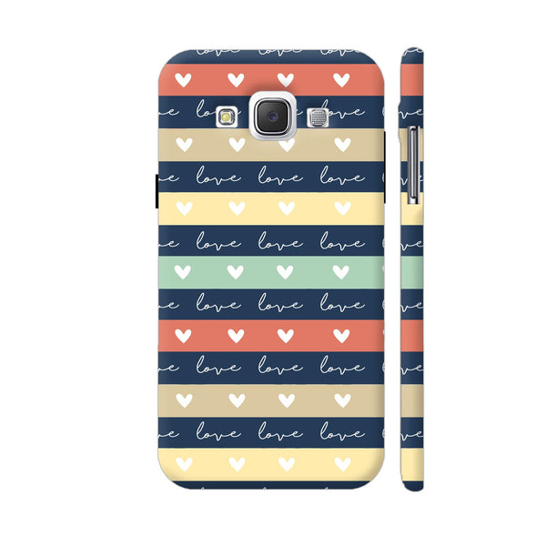 Love In Stripes Samsung Galaxy E5 Case