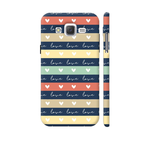 Love In Stripes Samsung Galaxy J5 Case
