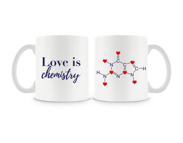 Love Is Chemistry Mug (Set of 2)
