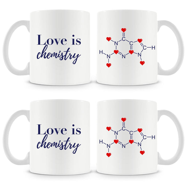 Love Is Chemistry Mug (Set of 4)