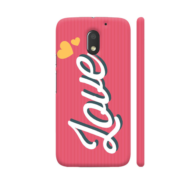 Love On Pink Motorola Moto E3 / Moto E3 Power Case