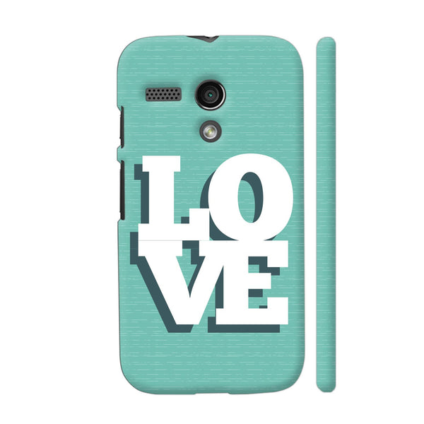 Love On Soft Green Motorola Moto G1 Case
