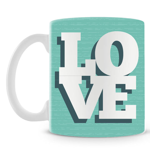 Love On Soft Green Mug