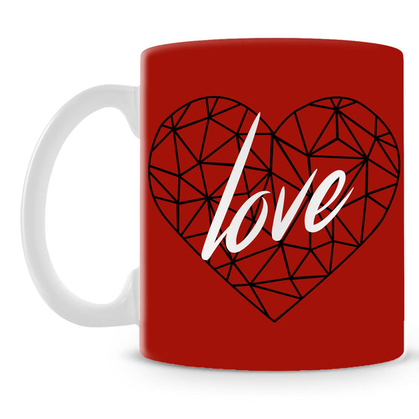 Love Poly Heart Mug