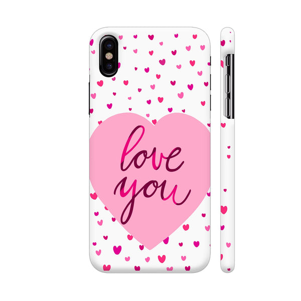 Love You Pink Hearts iPhone X Cover | Artist: Avani