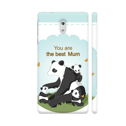 Lovely Panda Mom Nokia 3 Cover | Artist: Astha