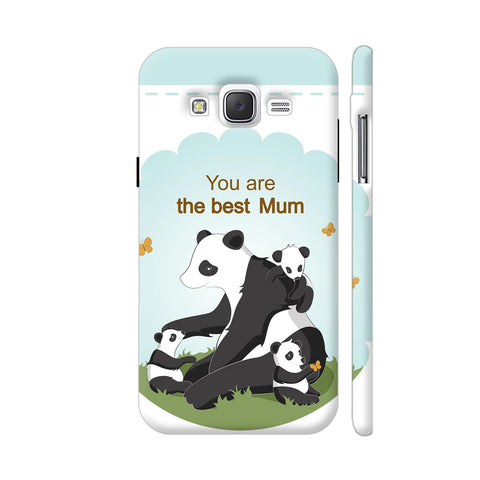 Lovely Panda Mom Samsung Galaxy J2 (Old) Cover | Artist: Astha
