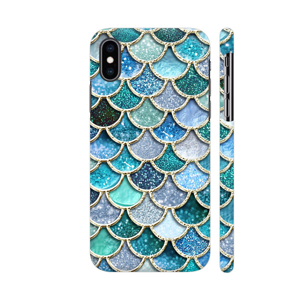 Luxury Aqua Mermaid Scales iPhone XS Max Cover | Artist: UtART