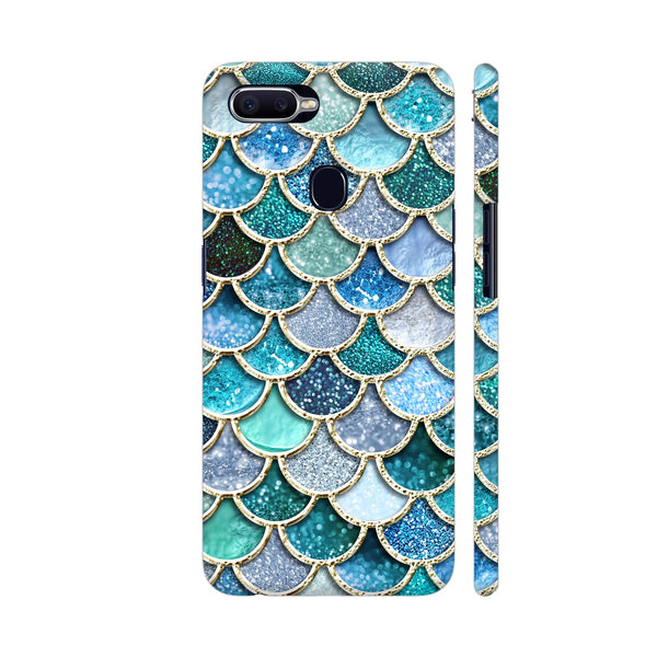 Luxury Aqua Mermaid Scales Oppo F9 Pro Cover | Artist: UtART
