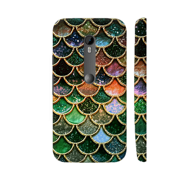 Luxury Green Mermaid Scales Moto G3 Cover | Artist: UtART