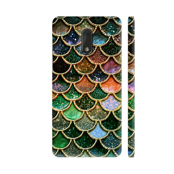 Luxury Green Mermaid Scales Nokia 6 Cover | Artist: UtART