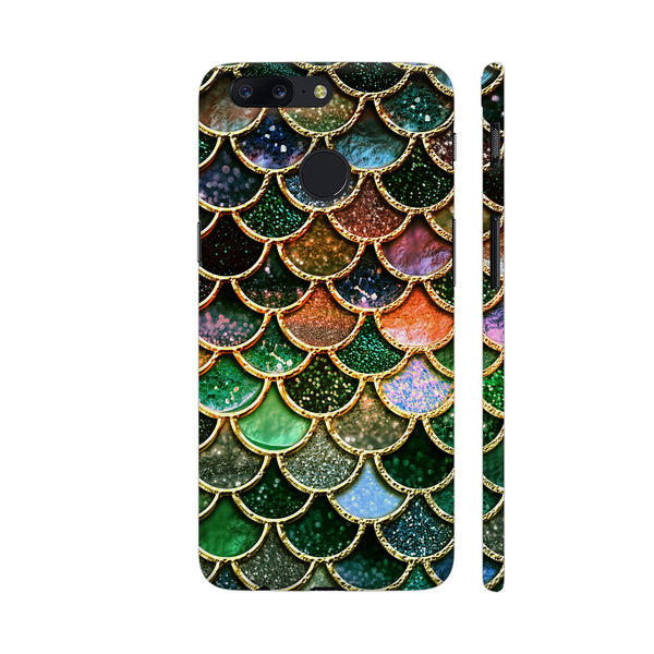 Luxury Green Mermaid Scales OnePlus 5T Cover | Artist: UtART