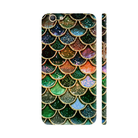 Luxury Green Mermaid Scales Oppo F3 Cover | Artist: UtART