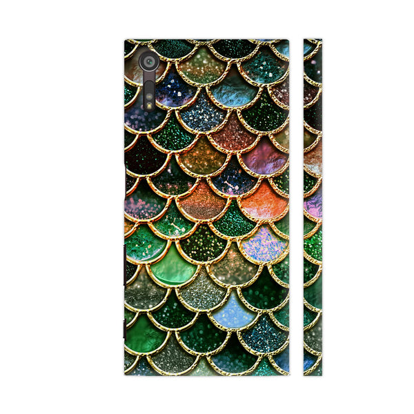 Luxury Green Mermaid Scales Xperia XZ Dual Cover | Artist: UtART